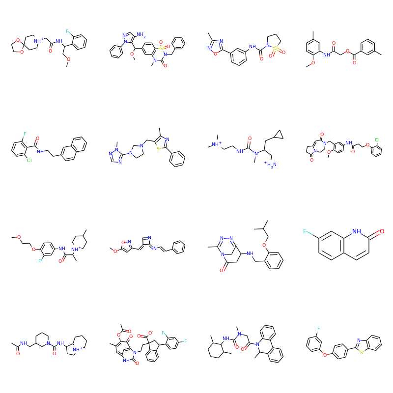 Molecules generated with a recurrent neural network