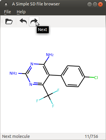 Programming a simple molecular GUI browser with model-view