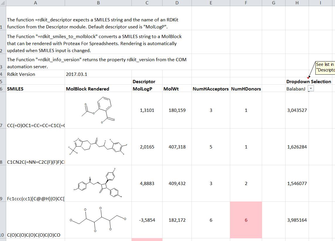 Cheminformatics in Excel part 2: RDKit4Excel   Cheminformania